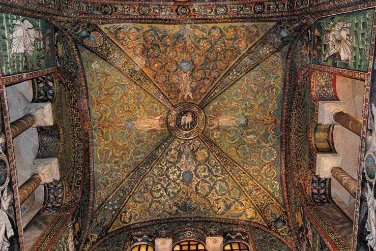 San Vitale mosaic ceiling