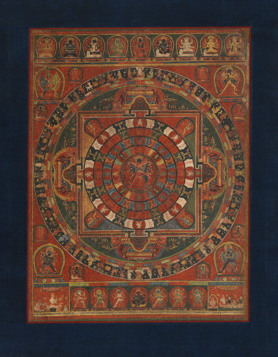 Mandala of the Buddhist Deity Chakrasamvara