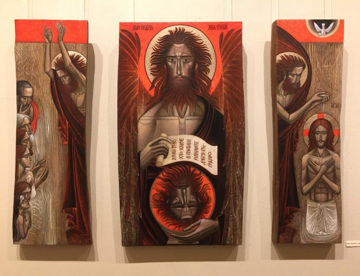 John the Baptist triptych by Lyuba Yatskiv