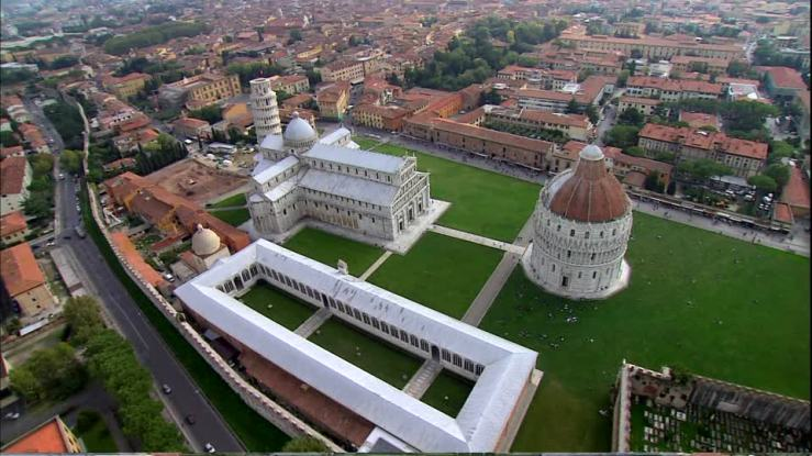 Camposanto Monumentale aerial view