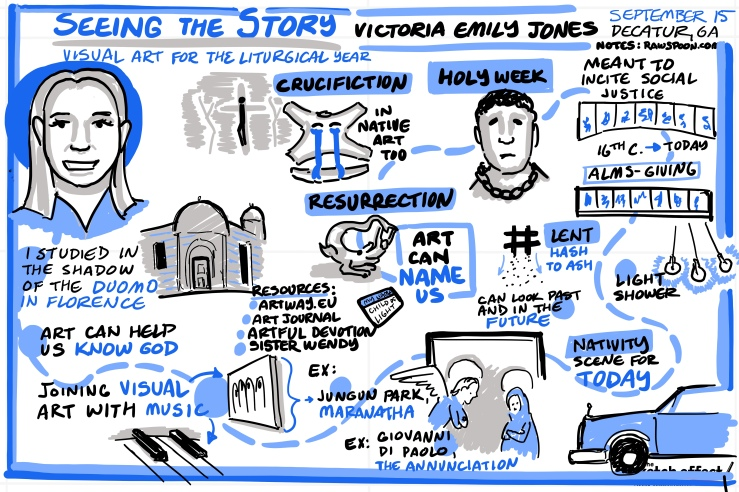"""Seeing the Story"" Sketch Notes by Raw Spoon"
