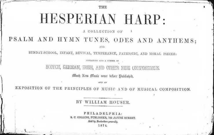 Hesperian Harp title page
