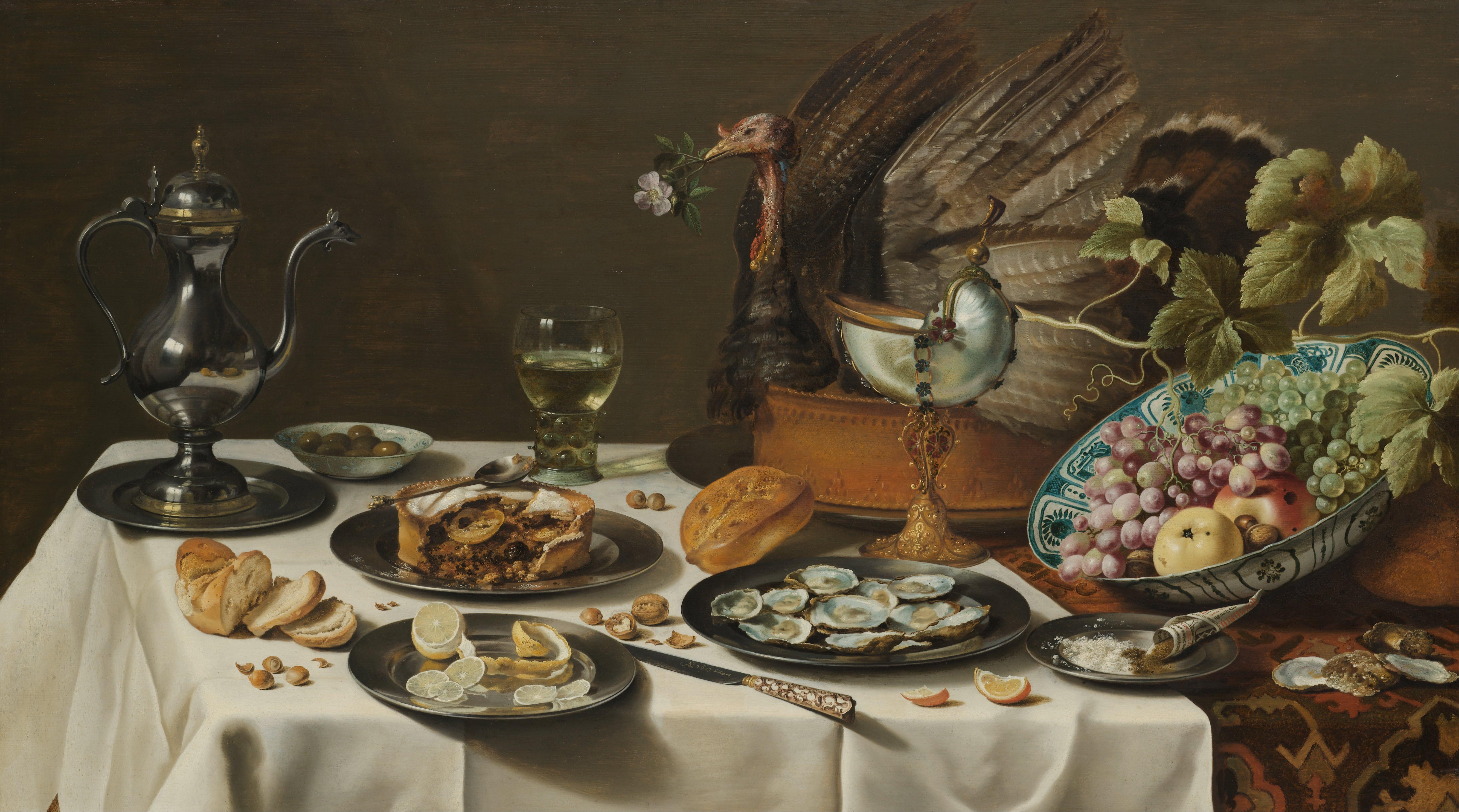 Claesz, Pieter_Still Life with a Turkey Pie