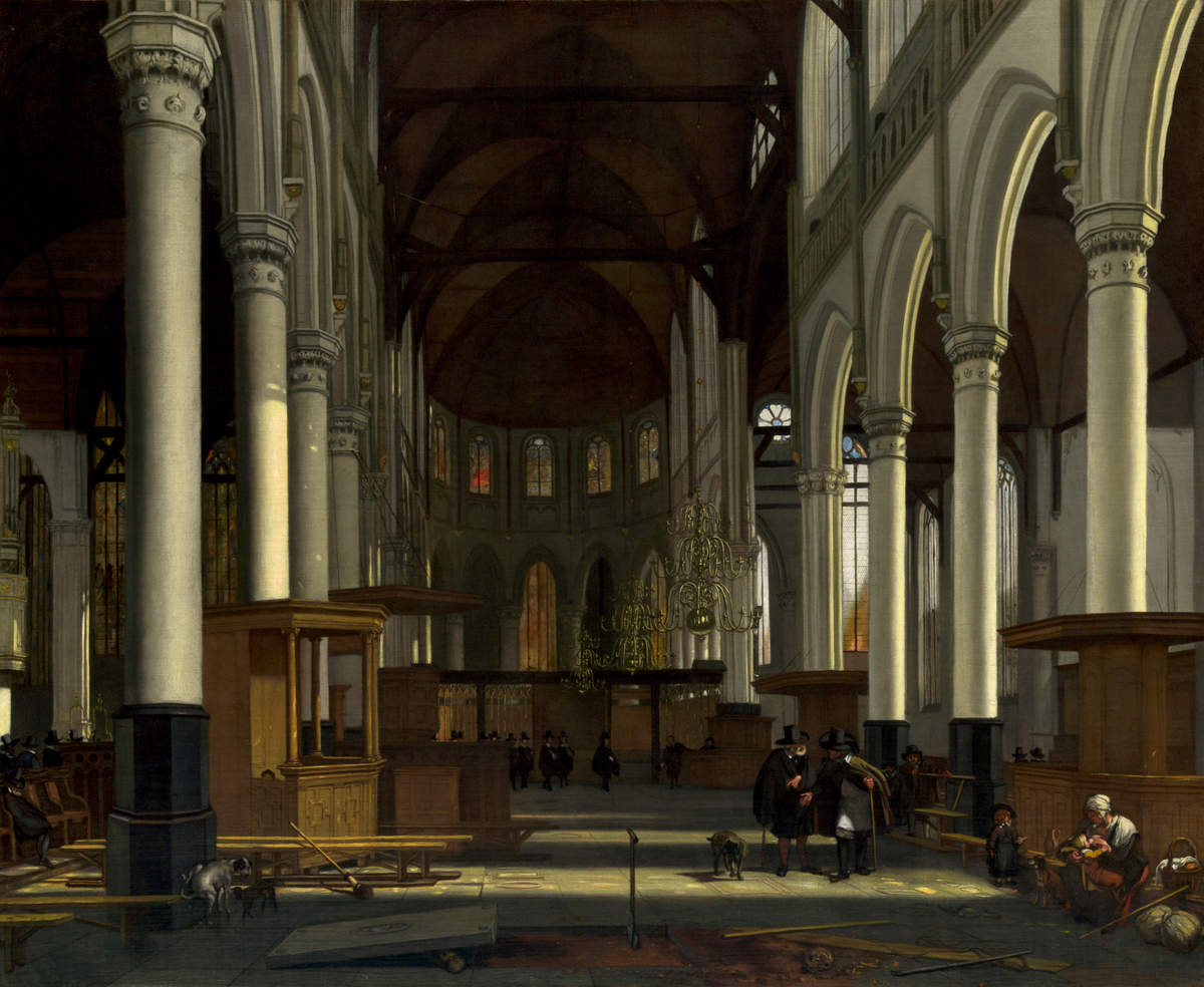 Interior of the Oude Kerk, Amsterdam by Emanuel de Witte