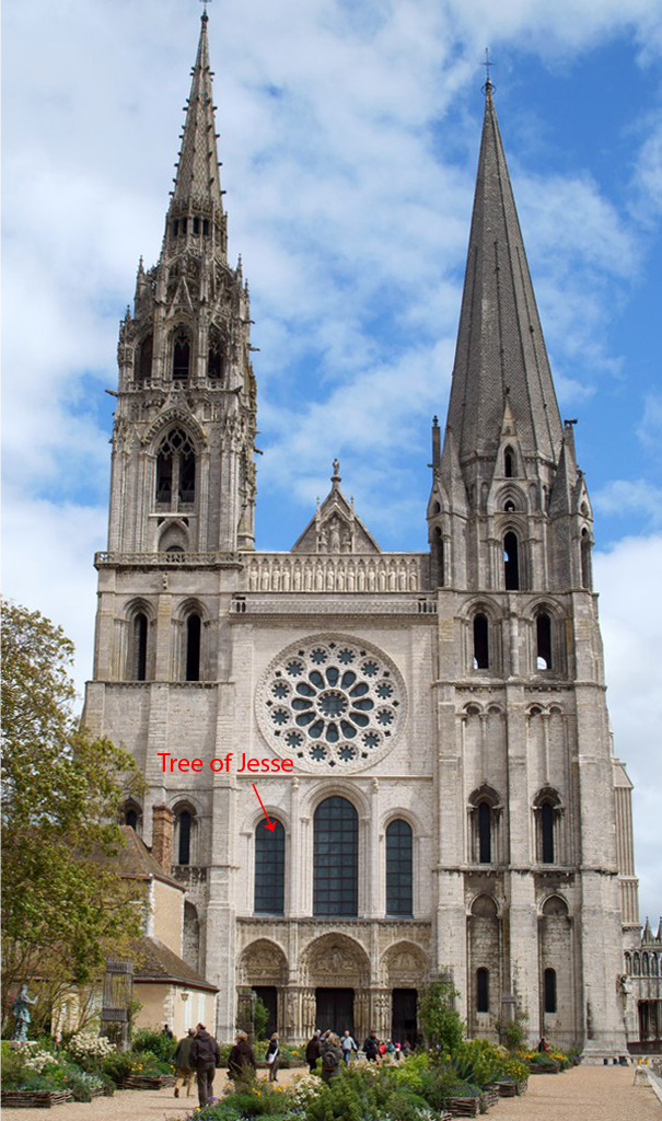 Chartres Cathedral with Tree of Jesse window