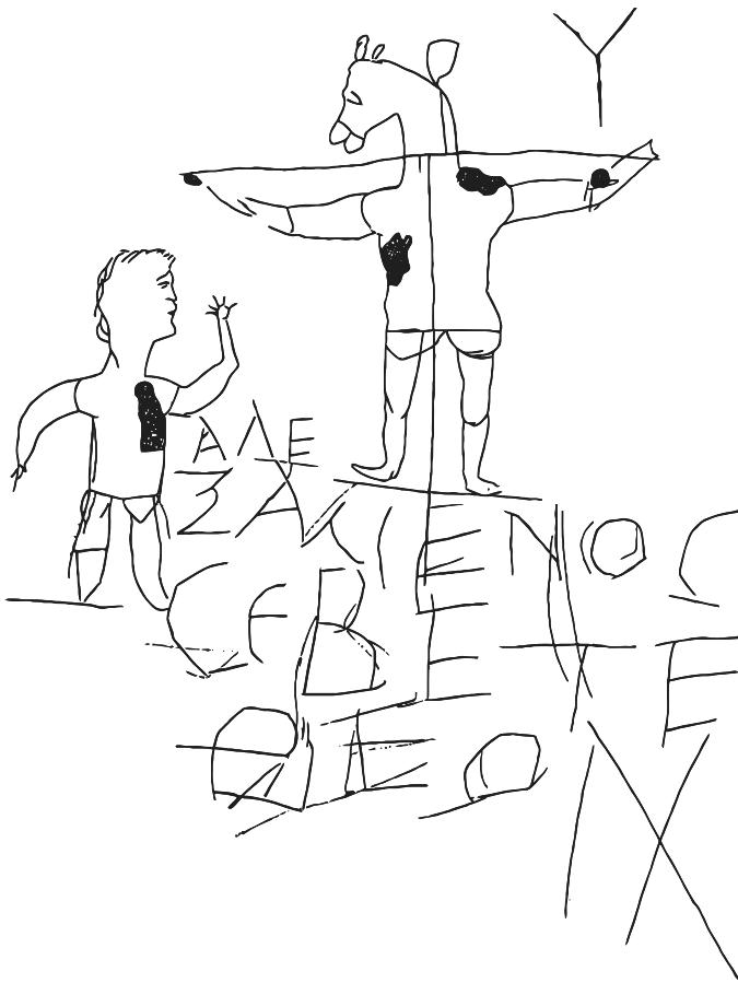 Alexamenos graffito tracing