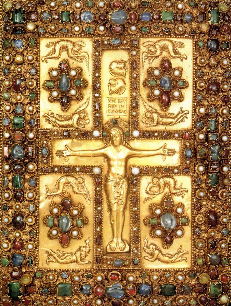 Crucifixion (Lindau Gospels)