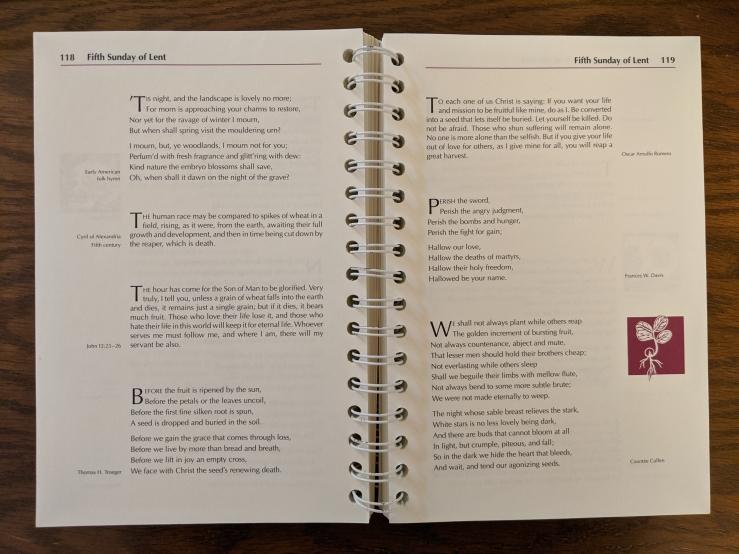 A Lent Sourcebook sample spread