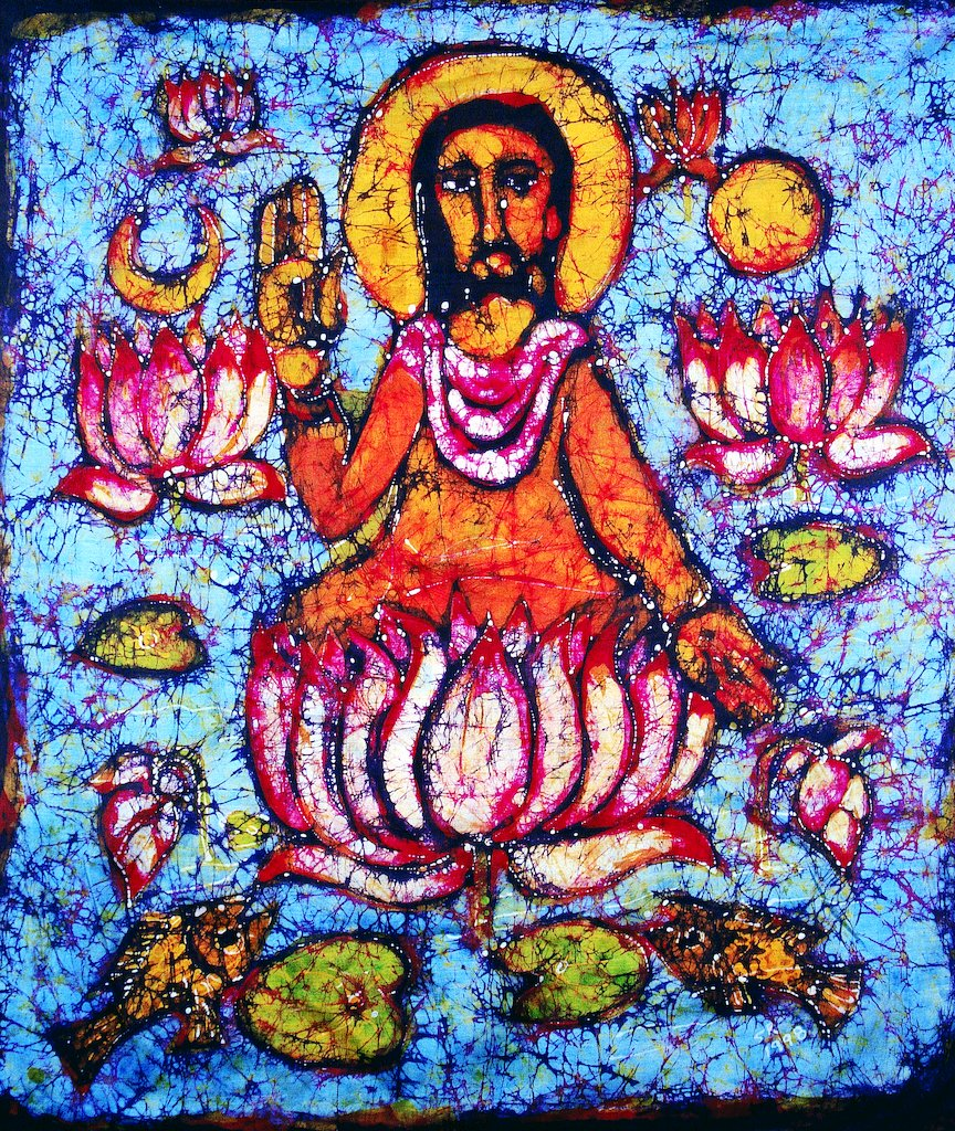 Jesus on a Lotus by Solomon Raj