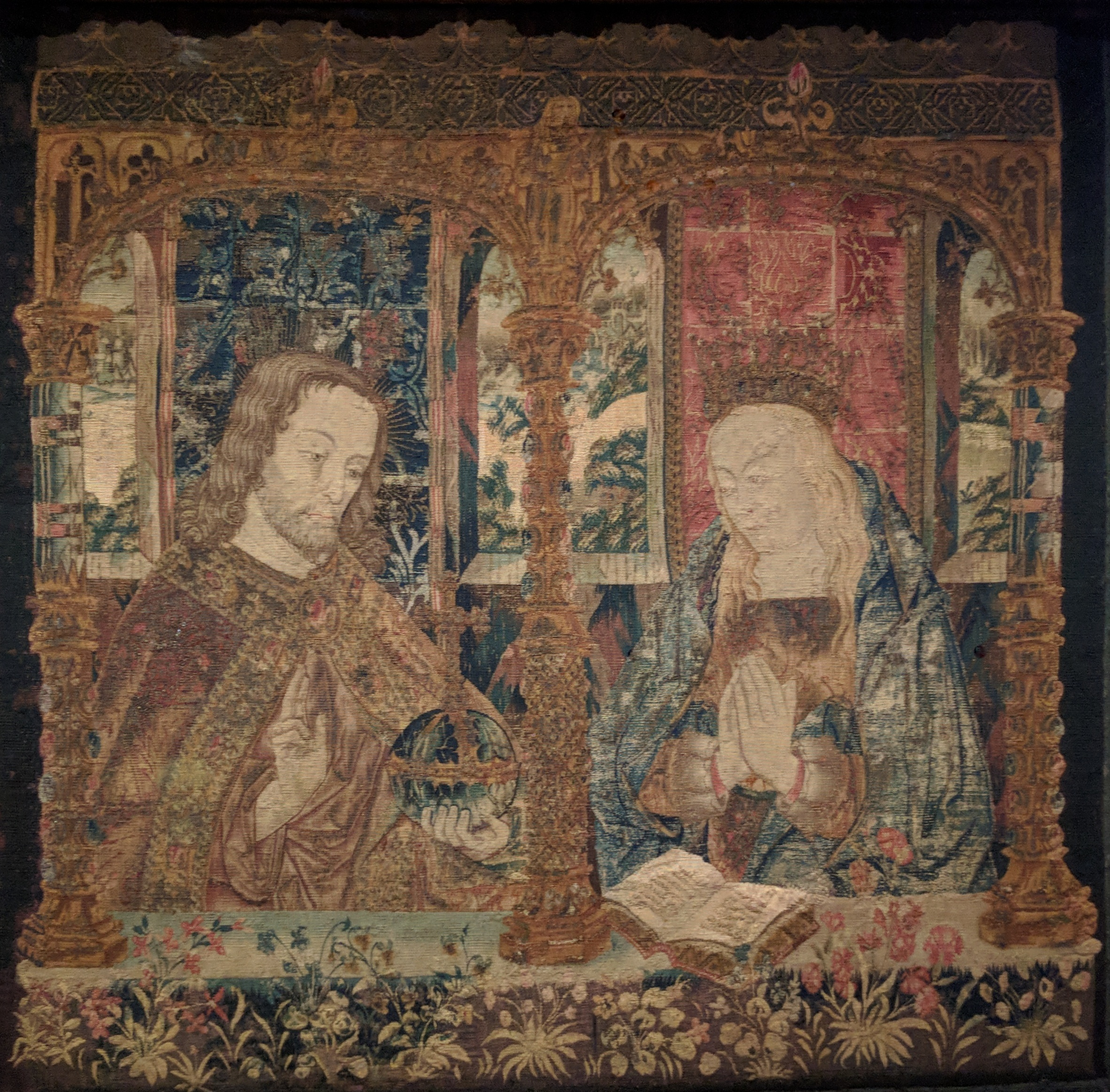 Christ and the Virgin tapestry