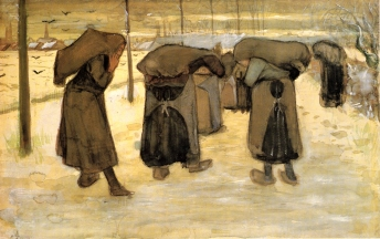 Van Gogh, Vincent_Women Carrying Sacks of Coal in the Snow