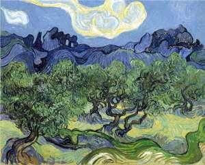 van Gogh, Vincent_Olive Trees in Mountainous Landscape