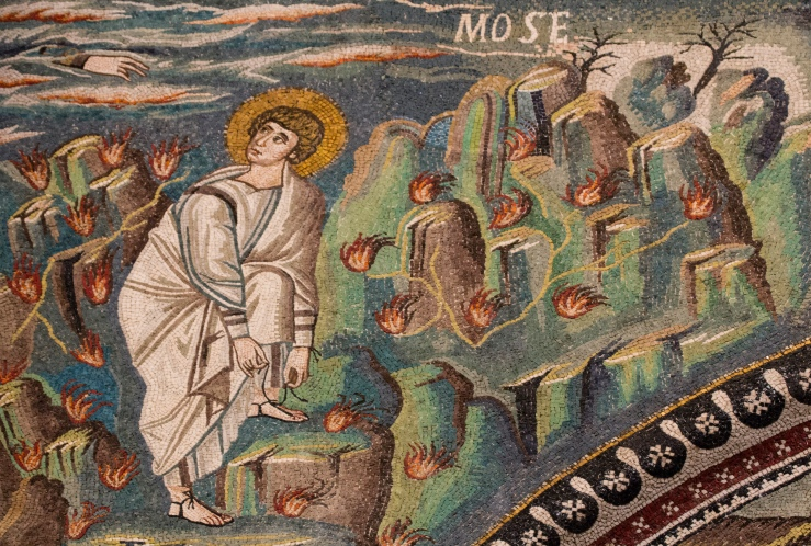 God calls Moses (San Vitale)