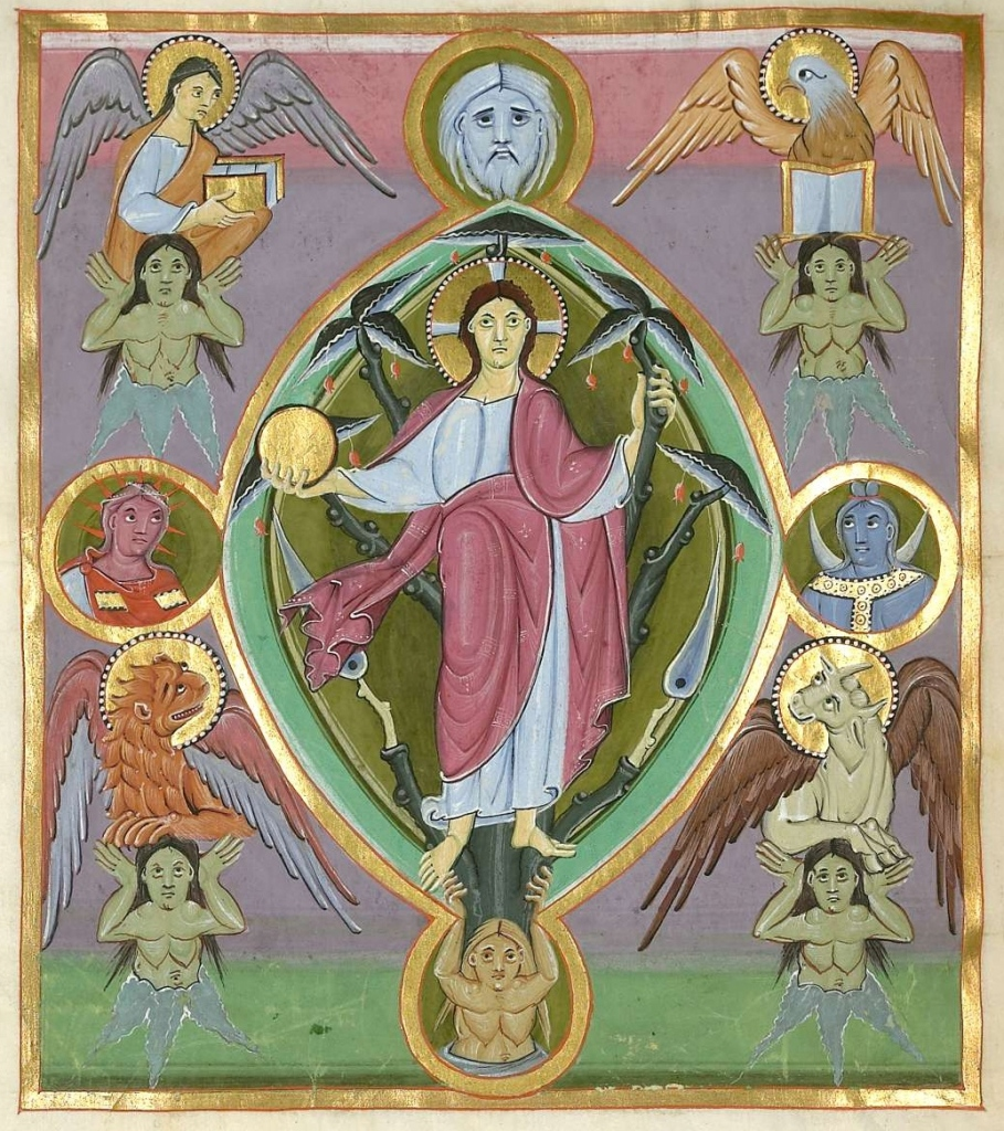 Christ in Glory (Gospel-book of Bamberg Cathedral)