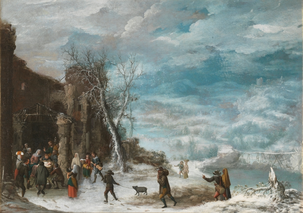 Collantes, Francisco_Winter Landscape with the Adoration of the Shepherds
