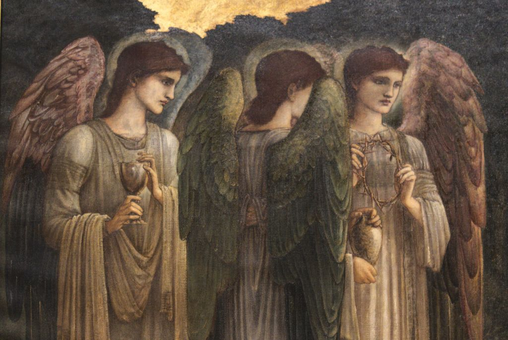 Burne-Jones, Edward_Nativity (detail, angels)