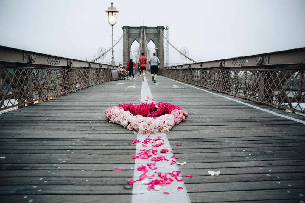 Floral Heart Project (Brooklyn Bridge)