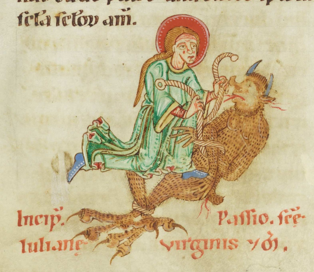St. Juliana binding the devil