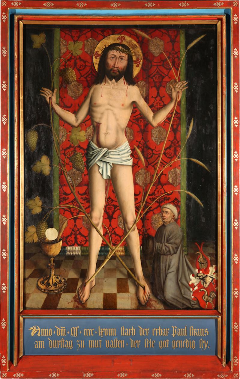 Herlin, Friedrich_Eucharistic Man of Sorrows (framed)