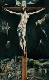 El Greco, Christ crucified with Toledo in the Background