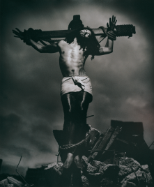 Greg Semu, Auto Portrait with Crucifix