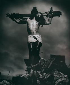 Greg Semu, Auto Portrait with Crucifix