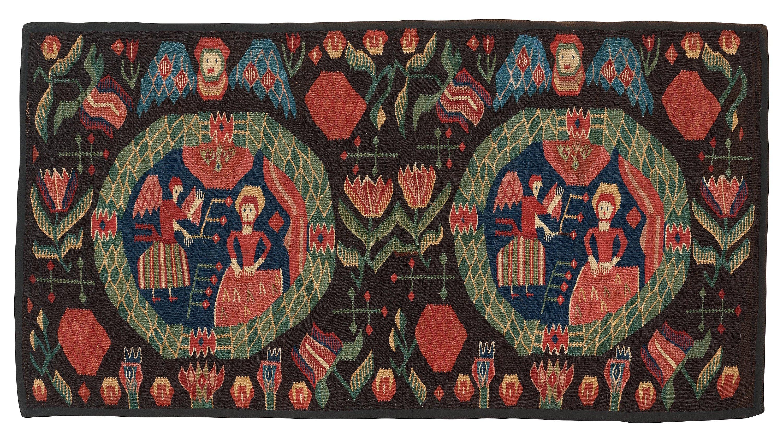 Annunciation carriage cushion (Sweden)