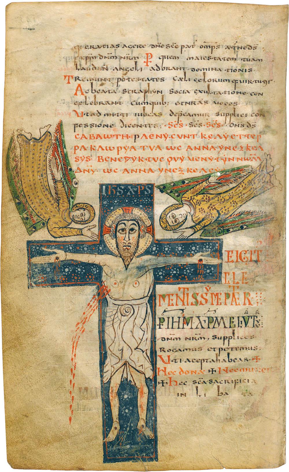 Crucifixion (Sacramentary of Gellone)